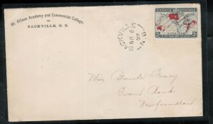 Canada #86 Very Fine Used On Scarce Cover To Newfoundland