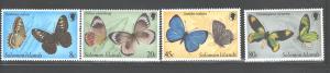 SINGAPORE1980  BUTTERFLIES #431 - 434  MNH