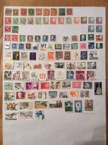 Sweden 100+ stamps - Lot E