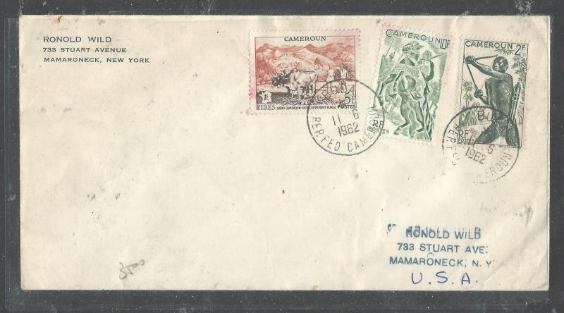 CAMEROON  (PP2708B) 1962 3 VALUES TO USA