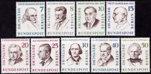 Germany Berlin #9N148-9N156 MNH - Famous Men of Berlin (1957-59)