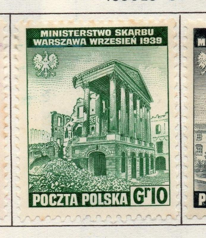 Poland 1941-44 Early Issue Fine Mint Hinged 10g. 190942