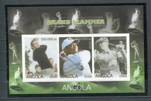 Golf Angola Tiger Woods Souvenir Sheet MNHGrand Slammer lot2