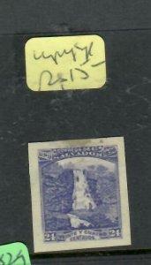 SALVADOR  (P1408B) 24C WATERFALLS PLATE PROOFIMPERF   SINGLE NGAI