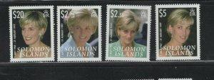 Solomon Islands #1096-99 (2007 Princess Diana set) VFMNH CV $8.25