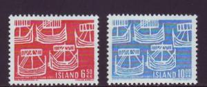 Iceland Sc 404-5 1969 Nordic Co-op stamp set mint NH