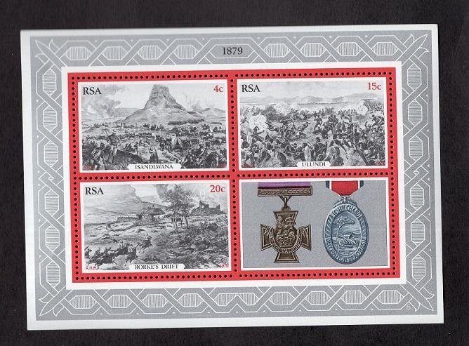 South Africa  #519-521a  1979 MNH sheet centenary Zulu war