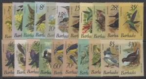 BARBADOS SG622/38 1979 BIRDS MNH