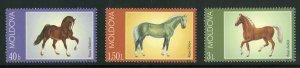 MOLDOVA 424-6 MNH SCV $4.00 BIN $2.50 HORSES