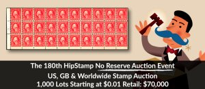 The 180th HipStamp No Reserve Auction Event