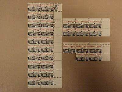 USPS Scott 2004 20c 1982 Library of Congress Lot of 3 Pla...