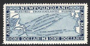 1931 Newfoundland watermark 224 airmail  $1.00 issue MVLH Sc# C11 CV: $95.00