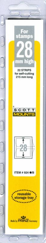 Scott Mounts Black,  28mm STRIP 215 , (a Pgk. 22) (00924B)