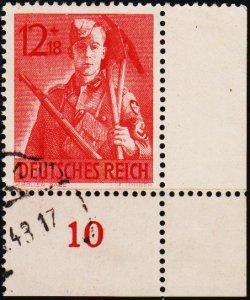 Germany.. 1943 12pf+18pf S.G.841 Fine Used