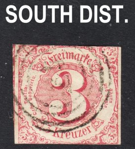 Germany Thurn and Taxis South District Scott 53 Fine used.