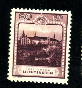 Liechtenstein #104 mint fvf og hr cat $105.