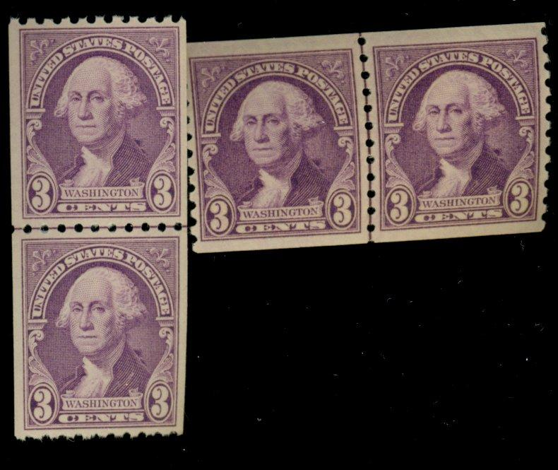 721-22 MINT Line Pairs F-VF OG NH Cat$21