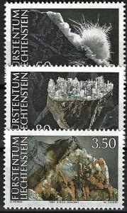 1994 Liechtenstein Beautiful Minerals, complete set VF/MNH! LOOK!