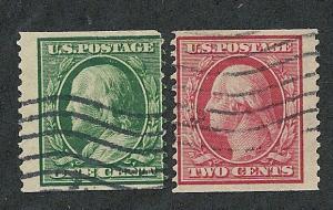 352 & 353 Used, Coil Singles, scv: $410