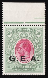 TANGANYIKA 1917 GEA on KGV 50R MNH ** Top Value