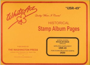 WHITE ACE 2020 US Regular Issue Singles Simplified Album Supplement USR-49