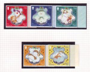 Isle of Man Sc 1008-12 2003 Christmas stamp set mint NH