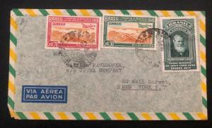 1946 Rio De Janeiro Brazil Airmail Commercial Cover To New York Usa