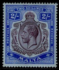 MALTA GV SG86, 2s purple & bright blue/blue, LH MINT. Cat £50.