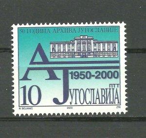 YUGOSLAVIA 2000 50 years of archive set MNH