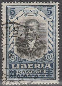Liberia #184  F-VF Used  (S7359)