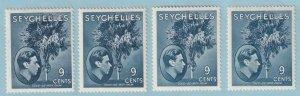 SEYCHELLES SG 138a 138ab 138ac & 138ad MINT HINGED OG * EXTRA FINE ! - W200