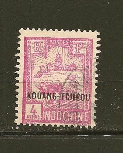 Indo-China 122 Kouang-Tcheou French Post Office Overprint Used