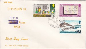 Pitcairn Islands # 141-143, UPU Centennal, First Day Cover