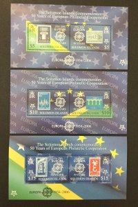 Solomon Islands 2006 #1001c-6c S/S, Europa 50th Anniversary, MNH-2 Pics.
