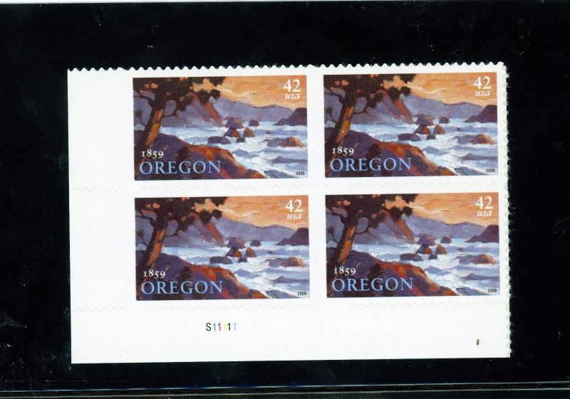 US  4376  Oregon Statehood 42c -Plate Block of 4 - MNH - 2009 - S11111  LL