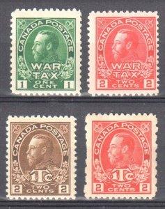 Canada MINT NH  #MR1-2-4-5 - C$960.00 -- WAR TAX STAMPS