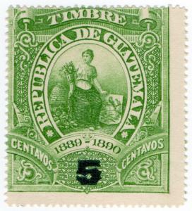 (I.B) Guatemala Revenue : Duty Stamp 5c