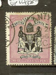 NYASALAND (P2306B) BRITISH CENTRAL AFRICA ARMS 2/6 SG26 SON CDS VFU LOVELY STAMP