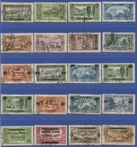 LEBANON 1925-1948  Large group of 79 Different used stamps, cv $250+