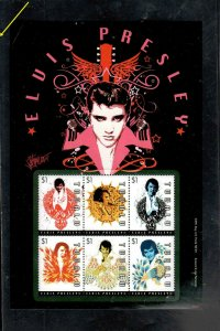TUVALU #1085  2010      ELVIS PRESLEY   MINT VF NH  O.G  SHEET 6