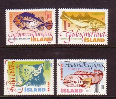 Iceland Sc 856-9 1998 Fish stamp set mint NH