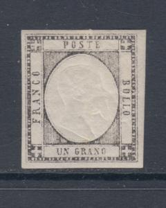 Two Sicilies Sc 21 MLH. 1861 1g King Victor Emmanuel II, VF, Cert.