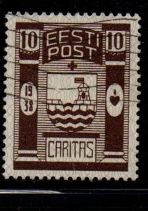 Estonia Sc B36 1938 Baltiski Coat of Arms Charity stamp used