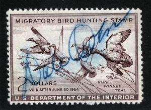 US Sc RW20 Signed Federal Duck Hunting Stamp