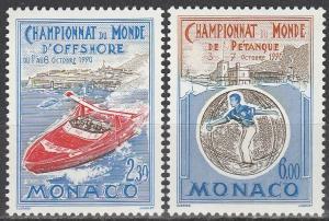 Monaco #1734-5  MNH  CV $3.85 (S1514)