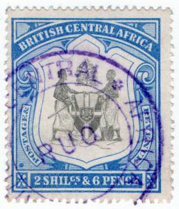 (I.B) Rhodesia/British Central Africa Revenue : Duty Stamp 2/6d (Ruo)