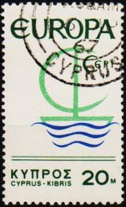 Cyprus. 1966 20m S.G.280 Fine Used