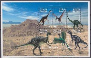 1999 Maldive Islands 3249-54KL Dinosaurs 10,00 €