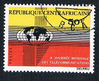 Central African Rep 159 Used Globe (BP7810)