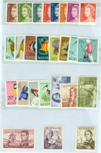 EDW1949SELL : AUSTRALIA Scott #394-417 VF, Mint NH Complete sets. Catalog $67.00